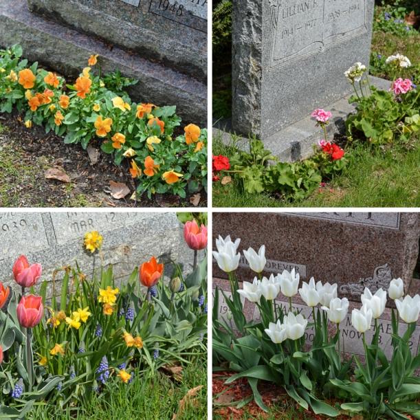 gravestone flowers